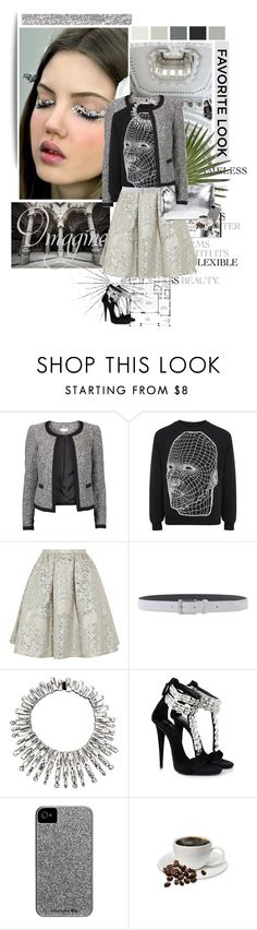 """""""''Raise your words, not voice. It is rain that grows flowers, not thunder.''"""" by iloveyoudd ❤ liked on Polyvore featuring SAM, Chanel, VILA, Christopher Kane, Peter Pilotto, Paoloni, Jil Sander, Noir Jewelry, Giuseppe Zanotti and Seed Design"""