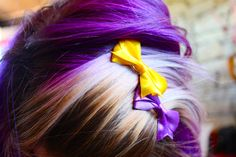 Purple and Gold Vikings Hair