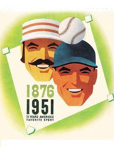 Chicago Cubs Scorecard Design by Otis Shepard. (circa 1950's)