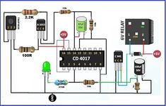 In this article we are going to show you a simple audio amplifier circuit. Circuit diagram of the based audio amplifier is shown in the given. Electronic Circuit Projects, Electronics Projects, Diy Electronics, First Transistor, Electrical Circuit Diagram, Electrical Wiring, Green Led, Audio Amplifier, Light Sensor