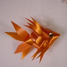 Ribbon Fish Mobile Goldfish Oranges by DzynesBySheila on Etsy