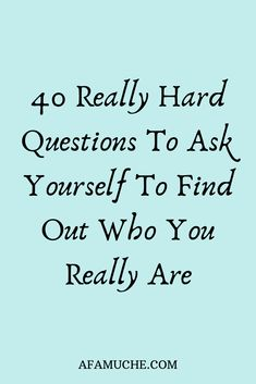 40 Questions To Ask Yourself For Personal Growth, which helps maximize the benefits of every day self reflection to know who you really are. Hard Questions To Ask, 100 Questions, Personal Questions, Life Advice, Good Advice, Haut Routine, Journal Questions, Journal Writing Prompts, Self Care Activities