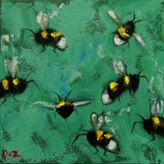 Bee painting 456 inch insect animal portrait original oil painting by Roz Swing Painting, Bee Painting, Still Life Oil Painting, Pet Portraits, Whimsical, Fine Art, Canvas, Animals, Etsy
