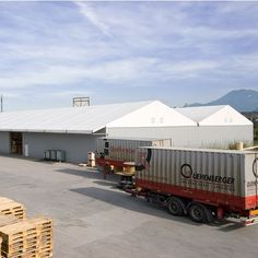 Companies must be able to react to short-term changes in market situations. That's where can help. Tents, Warehouse, Industrial, Outdoor Decor, Warehouses, Outdoor Camping, Teepees, Tent, Industrial Music