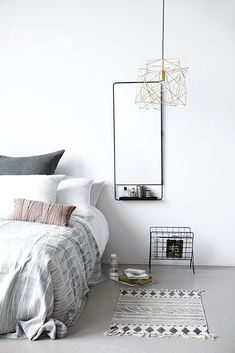 Mirror | Spiegel | By House Doctor | Interior inspiration | Interieur inspiratie | Bedroom ideas | Slaapkamer ideeen | Scandinavian style | Scandinavische stijl