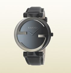 98c584350a1 Gucci - interlocking G collection watch with black leather strap  304248I18A08489 Gucci Outfits