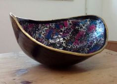 Kate's Rock the Bump custom deluxe belly bowl - December 2015 (created by Zoe Keeping at Rock the Bump pregnant belly and body Casting)