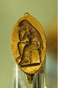 Penelope Waiting for Odysseus; Gold Ring 500 BC