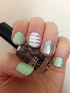 Mint with a touch of silver