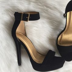 ▪HP️Black|Open Toed Heels▪️ Worn once to a wedding. Perfect condition! Shoes Heels