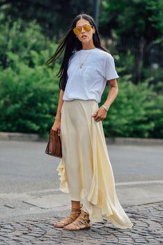 Tee + float skirt