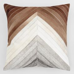 couch pillows 354306695689013095 - Chevron Patchwork Leather Hide Throw Pillow: Brown – Square by World Market Source by fhumberttoni Brown Throw Pillows, Leather Throw Pillows, Leather Pillow, White Pillows, Couch Pillows, Throw Pillow Covers, Accent Pillows, Decorative Throw Pillows, Cushions