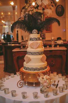 1920's Inspired Glamorous Celebration on Borrowed & Blue. Florals and Decor - Urban Earth Design Studios - Wedding Planner Michelle Adams  Photo Credit: Dennis Kwan Weddings