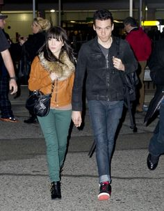 Carly Rae Jepsen with her boyfriend Matthew Koma arriving at Laguardia Airport in New York City.
