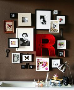 Frames.    I love the miscellaneous other items the break up the rigidity and add some quirkyness.