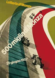 1957 500 Miglia di Monza Poster by Max Huber by willit63, via Flickr