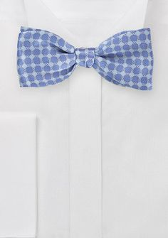 Graphic Bow Tie in Blues