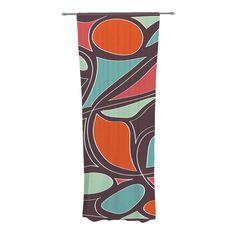 "Miranda Mol ""Retro Swirl"" Decorative Sheer Curtain from KESS InHouse"