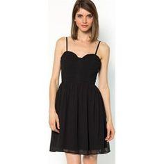 264b263c2cc5 Sukienka bez ramiączek z lejącego się materiału Robe Bustier, Drapage