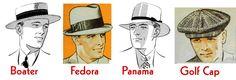 Art deco clothing men ideas for 2019 1920s Mens Clothing, 1920s Mens Hats, Art Deco Clothing, Mens Straw Hats, Hats For Men, 1930s Hats, Men's Clothing, Mode Masculine, 20s Fashion