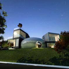 Jeju Cocoon House by Planning Korea in Jeju, Korea