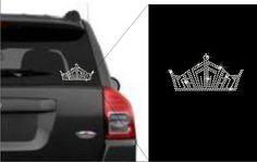 Rhinestone Crown Decal - Customize it @ www.sparklequeens.com
