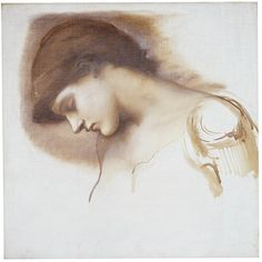 Burne-Jones-Head of Sleeping Attendant from <i>Briar Rose</i>