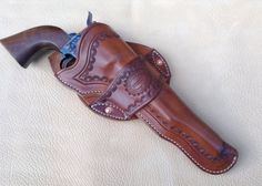 Here we have an example of a Holster that was popular in Dodge City kansas back in the Constructed using Cowhide , it can be made for