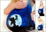 Belly painting with fairy and baby. by Ansigtsmaling