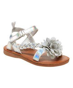Look at this #zulilyfind! OshKosh B'gosh Silver Anna Sandal by OshKosh B'gosh #zulilyfinds