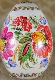 Pyasanka done in petrykivka style, Ukraine, from Iryna