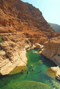 Wadi Shab, Oman - Natural Pool in one of the most famous wadi in Oman, few hours drive from Muscat,