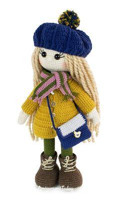 Crochet Baby Toys, Baby Blanket Crochet, Crochet Dolls, Crochet Hats, Double Crochet, Hand Crochet, Free Crochet, Amigurumi Doll, Amigurumi Patterns