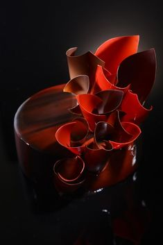 Agatha O l Flamenco Light Chocolate mousse, passion fruit and orange coulis, ganache, streusel|THOMAS TRILLION Beautiful Desserts, Gorgeous Cakes, Amazing Cakes, Dead Gorgeous, Bolo Grande, Decoration Patisserie, Mirror Glaze Cake, Pastry Art, Chocolate Art
