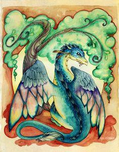 Dragon Tree  Watercolor Painting Print 8x10 by StarwoodArts, $18.00