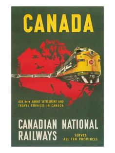 Travel Poster for Canadian Railways Art Print by | Art.com