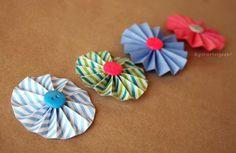 Flor Acordeon: decoración Scrapbook / Flower DIY