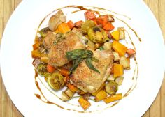 Herb Roasted Chicken with Roasted Balsamic Vegetables