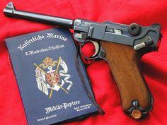 Custom 1904 long frame Navy Luger with Luger Pistol, Revolver, Weapons Guns, Guns And Ammo, Gun Art, Tactical Survival, Survival Equipment, Cool Guns, Shotgun