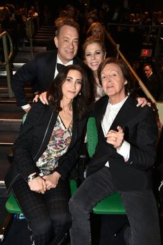 Tom Hanks, Rita Wilson, Paul McCartney and Nancy Shevell at event of Saturday Night Live: 40th Anniversary Special (2015)