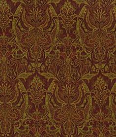 Robert Allen @ Home Persia Paisley Tuscan Red Fabric Tuscan Homes, Home Goods Decor, Home Decor, Robert Allen Fabric, Tuscan Decorating, Sofa, Couch, Black Flowers, Red Fabric