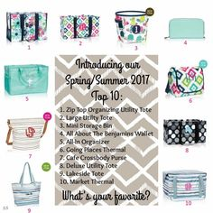 Spring Summer top ten items from Thirty One