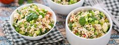 This brown rice salad recipe has been my favorite for a long time. It is filling yet refreshing, especially in the summer, and doesn't even need a dressing!
