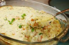 Creamy Shrimp & Grits Casserole ... purely Southern comfort food! www.thekitchenismyplayground.com #grits #shrimp