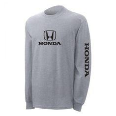 SpeedGear -Honda Grey Long Sleeve Logo Tee Honda Logo, Logos, Sweatshirts, Long Sleeve, Sleeves, Sweaters, Gifts, Fashion, Dinners