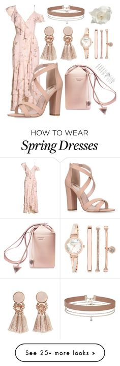 """Spring Pink"" by lettuceshewell on Polyvore featuring Wayf, Miss KG, MANGO, Anne Klein, Forever 21, Chanel and Miss Selfridge"