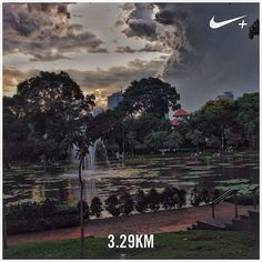 ..and then came the rain. #nikeplus #myrun #running #afternoonrun #stoppedbytherain #instarunner #tamanlembang #situlembang #menteng #jakarta #taman #indonesia #tamanjakarta #pond