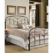 Tamara Hazelnut Metal Bed Frame