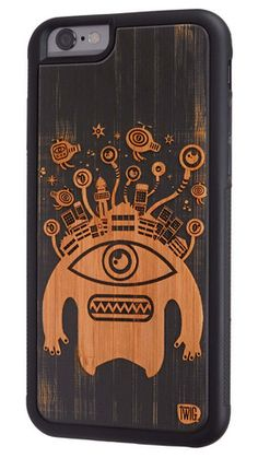 Monster Head - #Bamboo & #Paper #Case for #iPhone 6 & 6 Plus - Twig Case Co.