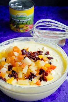 Pasca fara aluat - Din secretele bucătăriei chinezești Pavlova, Easy Desserts, Fruit Salad, Nutella, Cantaloupe, Food To Make, Panna Cotta, Oatmeal, Bacon